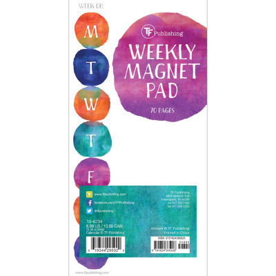 Water Spots 70 Page Magnetic List Pad
