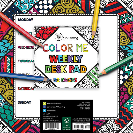 Tf Publishing Color Me Weekly Desk Pad