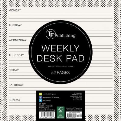 Ebony And Ivory Weekly Desk Pad