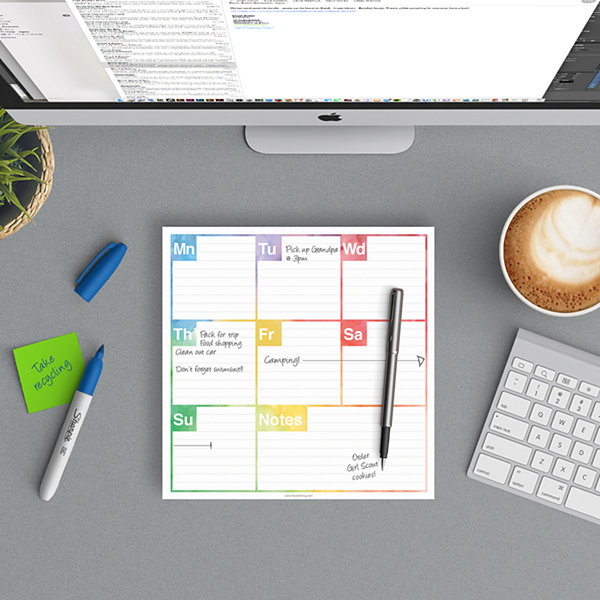 Elements Weekly Desk Pad