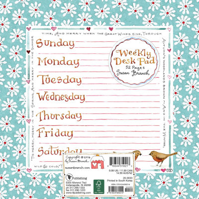 Tf Publishing Susan Branch Weekly Desk Pad