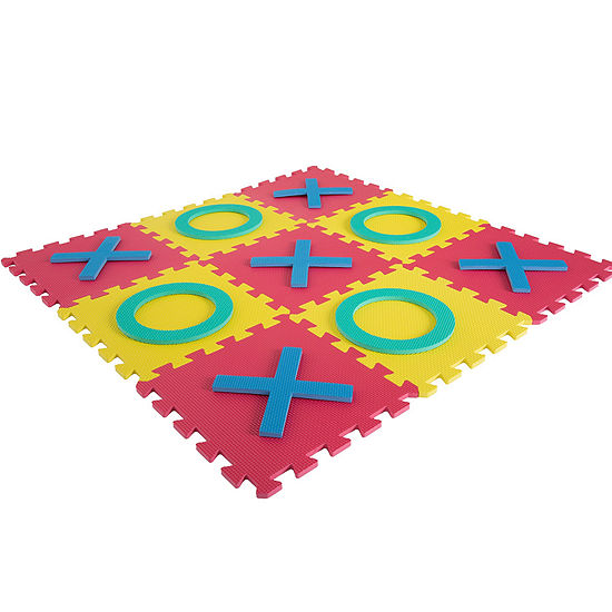Hey! Play! Giant Interlocking Foam Square Tic-Tac-Toe Game