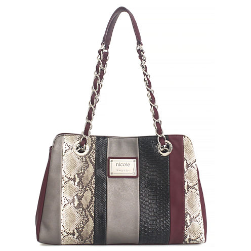 Nicole By Nicole Miller Suzie Large Patchwork Tote Bag