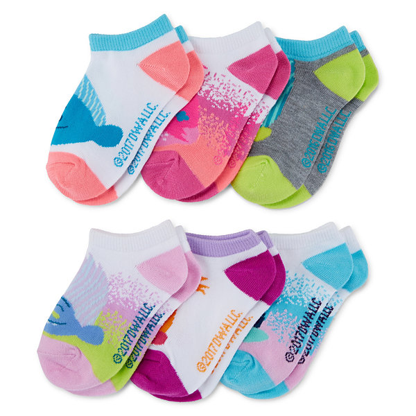 6pk Trolls No Show Socks - Womens