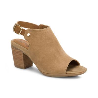 Eurosoft Womens Makala Pumps Buckle Peep Toe Stacked Heel