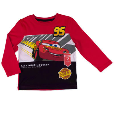 Disney by Okie Dokie Long Sleeve Cars T-Shirt-Toddler Boys