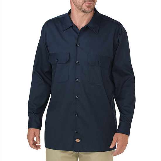Dickies® FLEX Relaxed Fit Long Sleeve Twill Work Shirt - Big