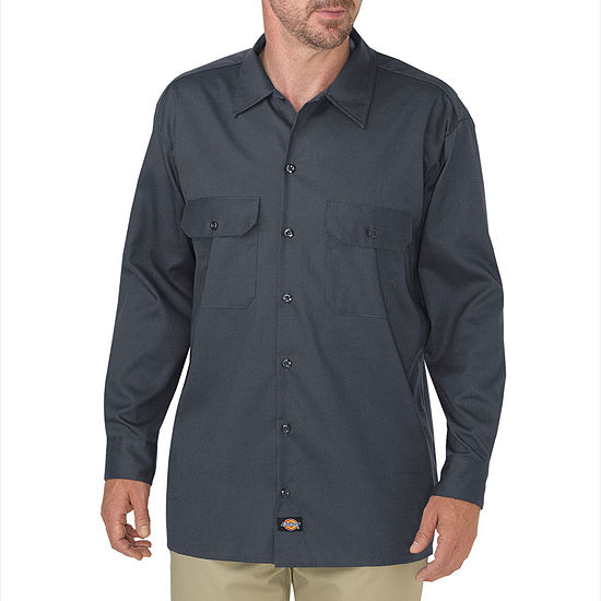 Dickies® FLEX Relaxed Fit Long Sleeve Twill Work Shirt
