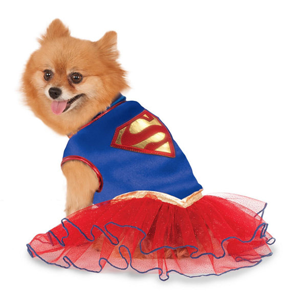 Supergirl Tutu Pet Costume - Large