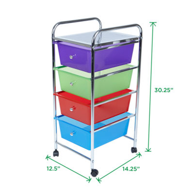 Mind Reader 4 Drawer Storage Trolly