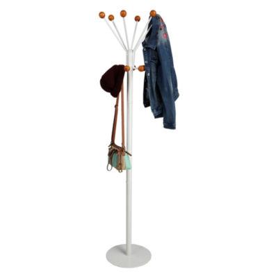 Mind Reader Free Standing 12-Hook Coat And Hat Rack