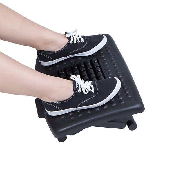 Mind Reader 'Comfy' Adjustable Height Foot Rest With Rollers For Massage