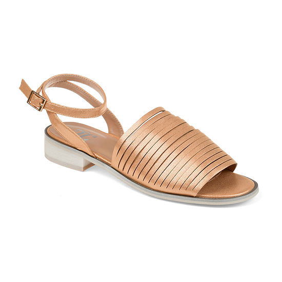 Journee Collection Womens Louise Ankle Strap Flat Sandals