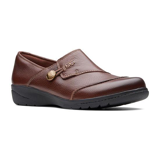 Clarks Womens Cheyn Misha Slip-On Shoe Round Toe-Wide Width