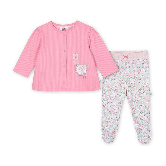 Just Born Girls 3-pc. Animal Pant Set Baby