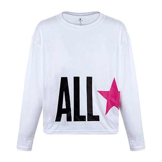 Converse - Little Kid Girls Round Neck Short Sleeve Graphic T-Shirt
