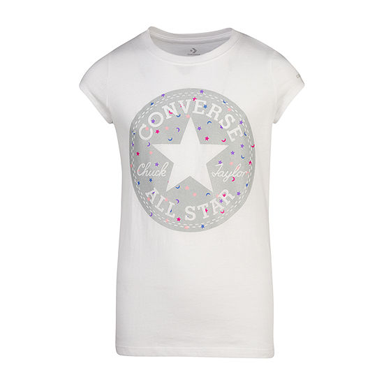 Converse Girls Round Neck Short Sleeve Graphic T-Shirt - Preschool