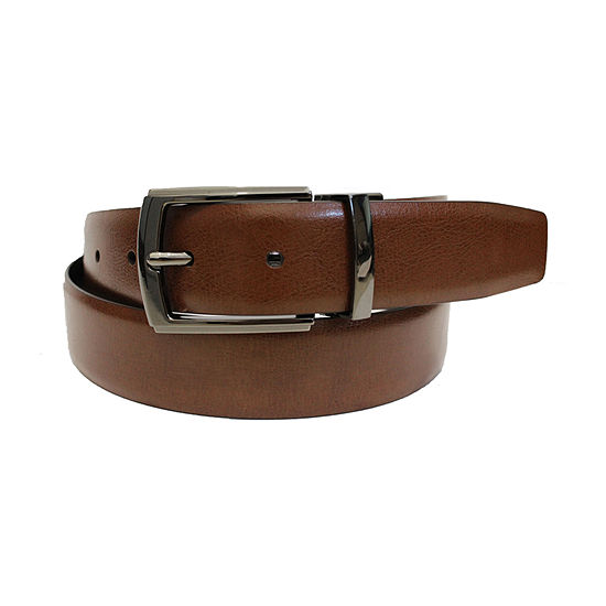 Stafford® Silver Sideburns Reversible Belt