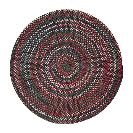 Colonial Mills American Pride Braided Round Reversible Indoor Rugs, One Size , Brown Product Image