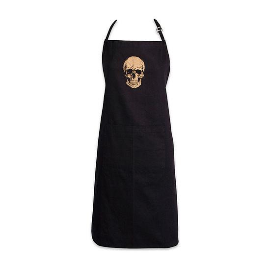 Design Imports Gold Skull Chef Apron