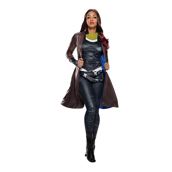 Guardians Of The Galaxy 2 Gamora Deluxe Coat Dress Up Costume Womens