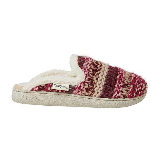 Dearfoams Chunky Knit Scuff Womens Slip-On Slippers
