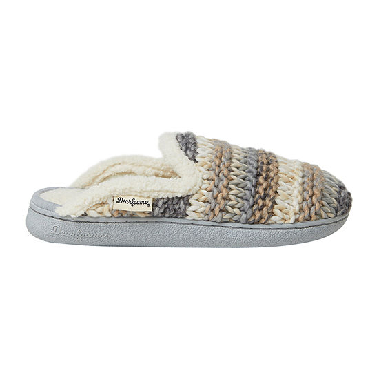 Dearfoams Chunky Knit Scuff Womens Slip-On Slippers