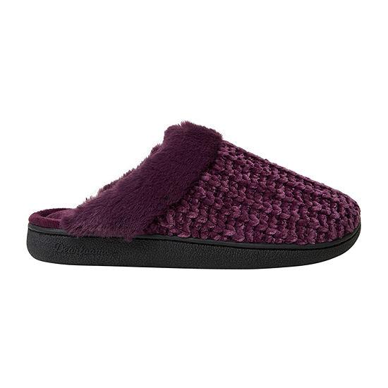 Dearfoams Chenille Scuff Womens Slip-On Slippers