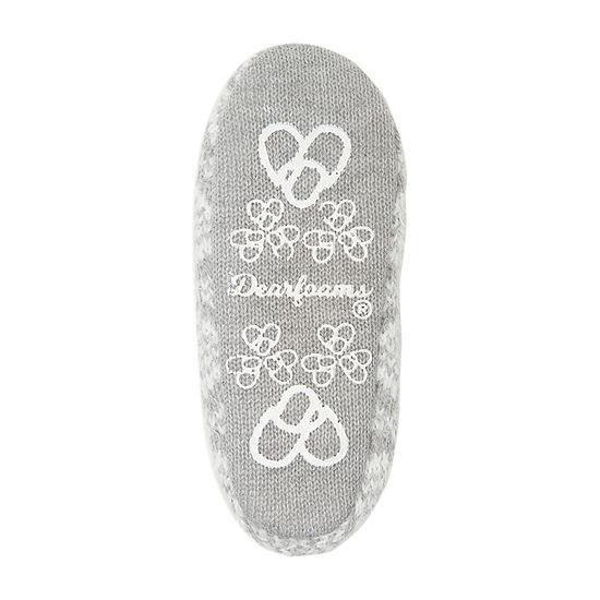 Dearfoams Toasty Sock Womens Bootie Slippers
