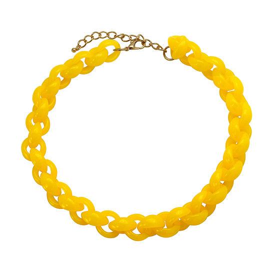 Bijoux Bar Yellow 18 Inch Link Link Necklace