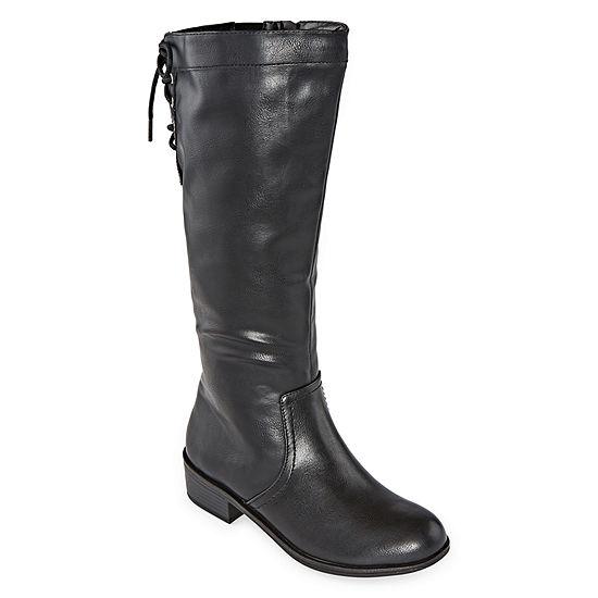 Arizona Womens Doral Block Heel Zip Riding Boots