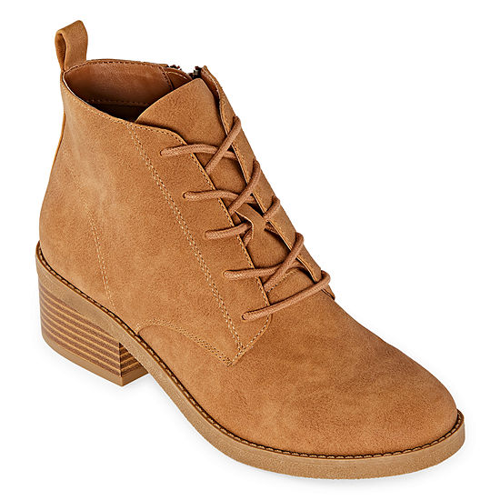 Arizona Womens Migil Lace Up Boots Stacked Heel