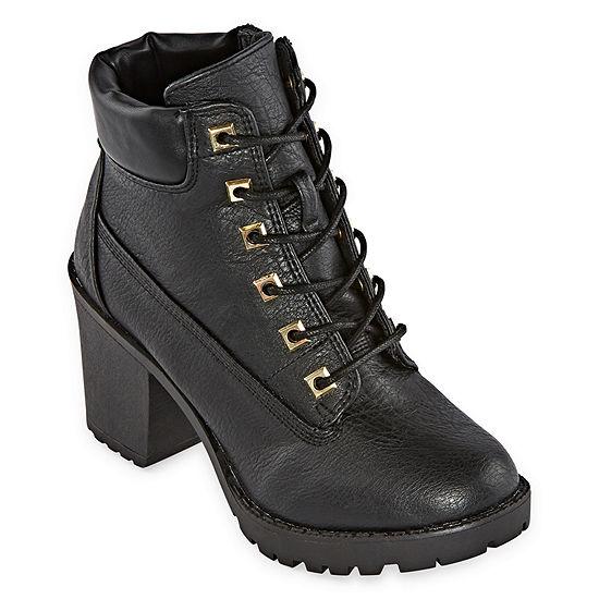 Zigi Girl Womens Kerin Lace Up Boots Block Heel