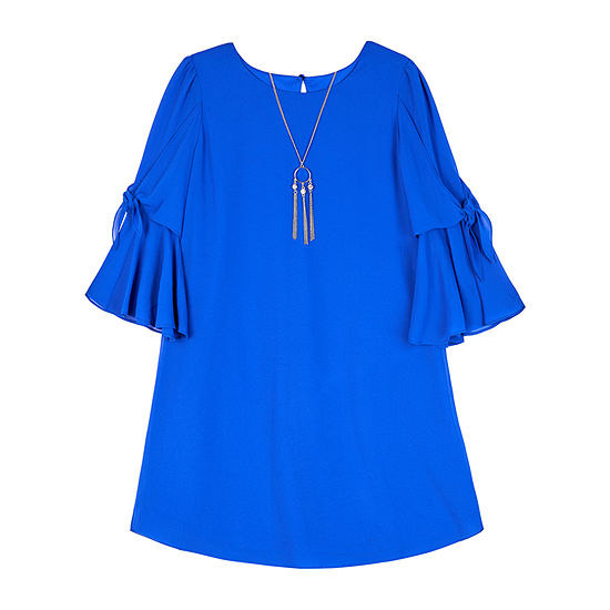 by&by girl 3/4 Sleeve Bell Sleeve Sheath Dress - Big Kid Girls