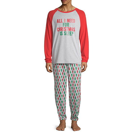 North Pole Trading Co. Christmas Wish Family Mens 2-pc. Pant Pajama Set