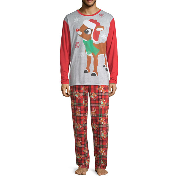 North Pole Trading Co. Rudolph Family 2 Piece Pajama Set -Men's