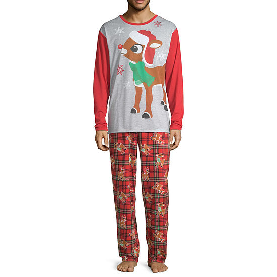 North Pole Trading Co. Rudolph Family 2 Piece Pajama Set -Men's Big and Tall