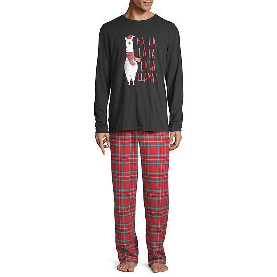 North Pole Trading Co. Fa La Llama Family Mens 2-pc. Pant Pajama Set