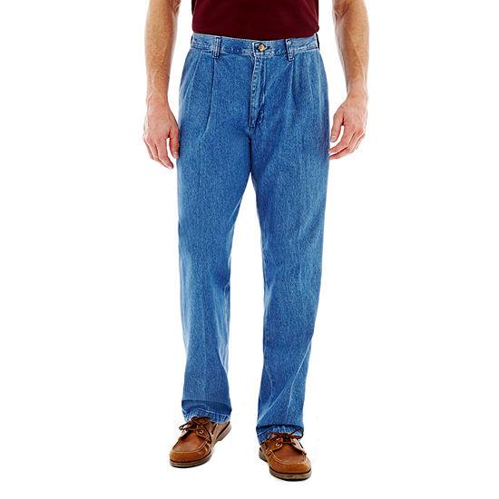 Lee® Stain Resist Men's Pleated Denim Pants