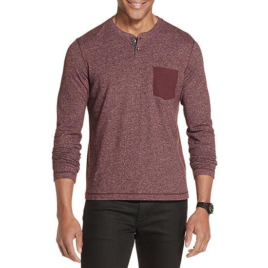 Van Heusen Never Tuck Mens Long Sleeve Stretch Henley Shirt