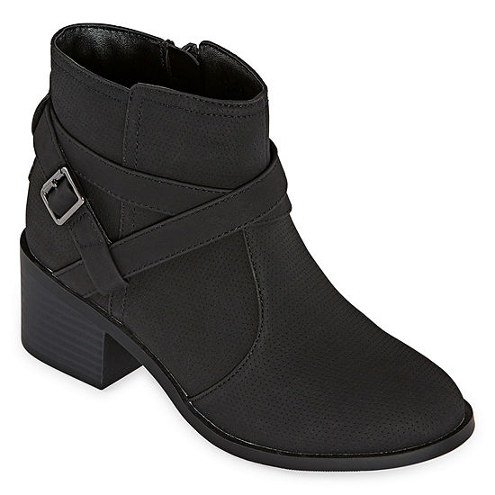 Arizona Girls Walnut Booties Block Heel