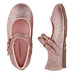 Christie & Jill Toddler Girls Twinkle Mary Jane Shoes Round Toe