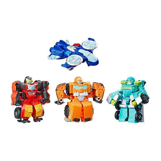 Hasbro Playskool Heros Academy Rescue Team Transformers 4-pc.