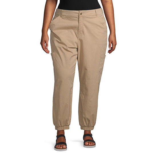 Arizona Womens Cinched Cargo Pant-Juniors Plus