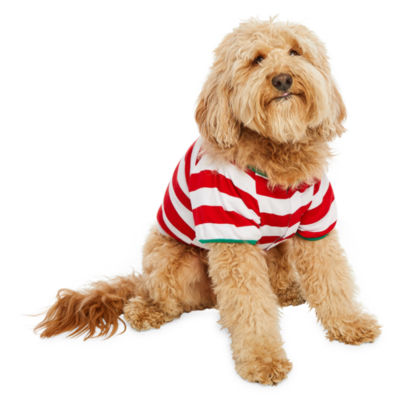 North Pole Trading Co. Red and White Stripe Family Pet Pajama