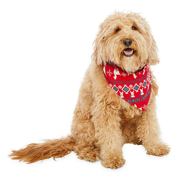 North Pole Trading Co. Llama Family  Pet Bandana -Pet