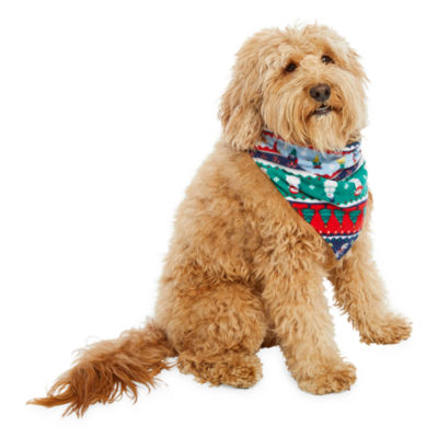 North Pole Trading Co. Fun Fairisle Family  Pet Bandana -Pet