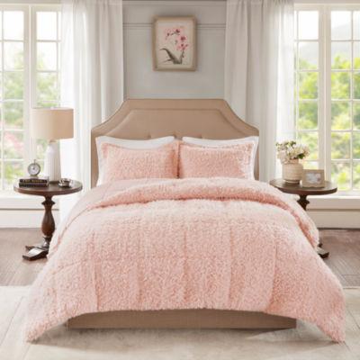 Madison Park Nova Faux Mohair Reverse Faux Mink Comforter Set