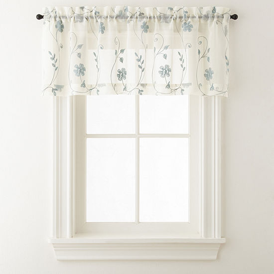 JCPenney Home Malta Tailored Rod-Pocket Kitchen Valance