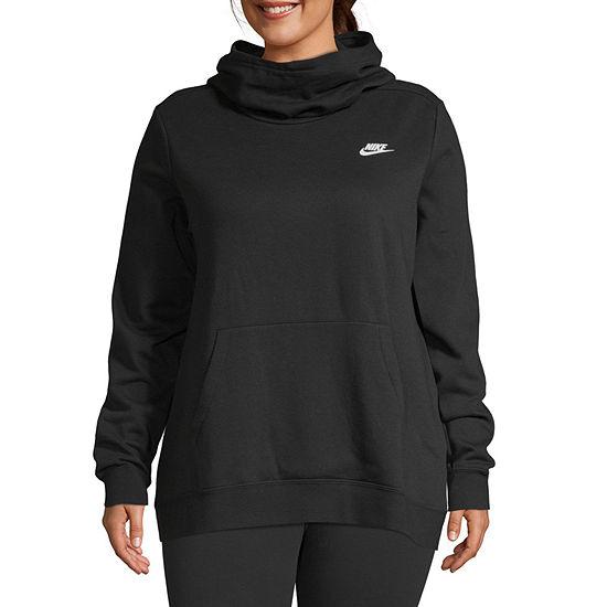 Nike Womens Long Sleeve Knit Hoodie Plus